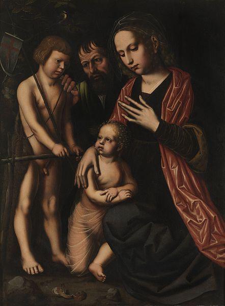 File:Ambrosius Benson - Holy Family SJohn.jpg