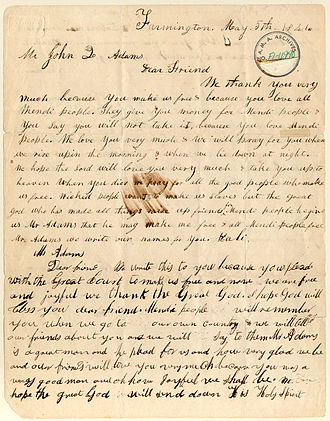 Amistad Research Center - Correspondence from the Amistad captives to John Quincy Adams
