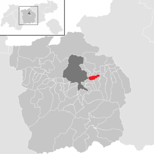 Location of the municipality of Ampass in the Innsbruck-Land district (clickable map)
