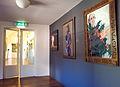 Amsterdam, Stadsschouwburg, doorgang Rabo Zaal, portretten Kees Hulst, Maria Kraakman, Chris Nietvelt.jpg