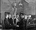 Anatomy lessons at St Dunstan's. Oil painting by J.H. Lobley Wellcome L0002359.jpg