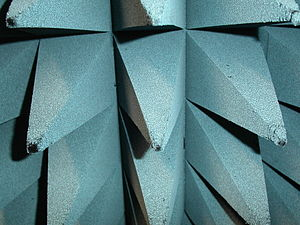Anechoic chamber - Close-up of a pyramidal RAM