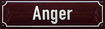 Straßenschild Anger