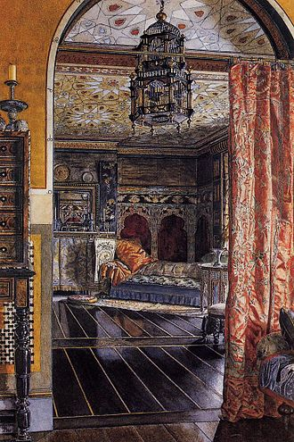 Anna Alma-Tadema - The Drawing Room, Townshend House, 1885, Royal Academy of Arts, London