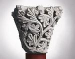 Anonyme toulousain - Chapiteau de colonne simple , Rameaux - Musée des Augustins - ME 215 (1).jpg