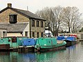 Another view of the Canal Waterway Office with moored maintenance barges - geograph.org.uk - 1495357.jpg