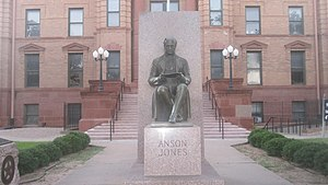 Anson Jones - Statue of Anson Jones at Jones County Courthouse in Anson, Texas
