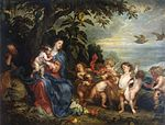 Anthony van Dyck and Pauwel de Vos - Rest on the Flight into Egypt (Madonna with Partridges).jpg