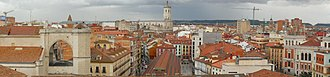 Valladolid - Panoramic view of downtown Valladolid and Valladolid Cathedral
