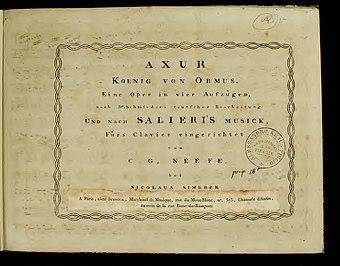 File:Antonio Salieri Axur Piano Score.jpg (Source: Wikimedia)