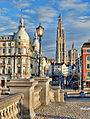 Antwerp Suikerrui and the cathedral by Jules Grandgagnage.jpg