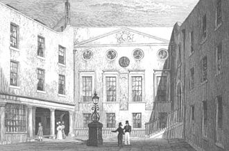 Worshipful Society of Apothecaries - Apothecaries' Hall courtyard, 1831