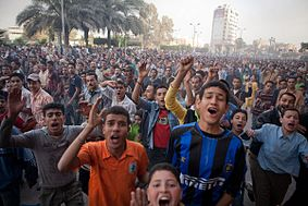 April 2008 uprisings in Mahalla, Egypt.JPG