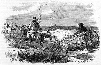 Araba (carriage) - An araba in Wallachia