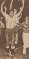 Argentine Footballer Carlos Rufino Fariña celebrating Argentina's National Team victory against Brazil in 1942.png
