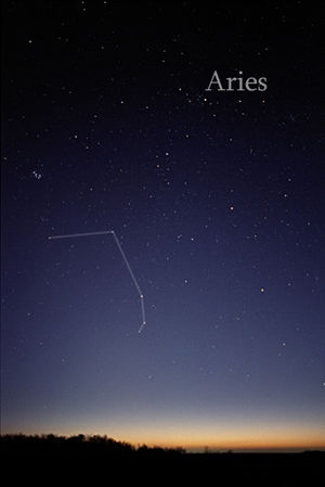 Aries (constellation) - The constellation Aries as it can be seen with the naked eye.