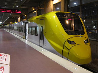 X3 (train) - An Arlanda Express X3 train at Stockholm Central Station