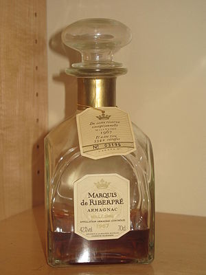 Baco blanc - A 1967 bottle of Armagnac.