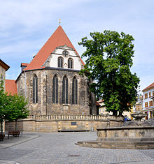 """The church in Arnstadt where Bach had been the organist from 1703 to 1707. In 1935 the church was renamed to """"Bachkirche"""". (Source: Wikimedia)"""