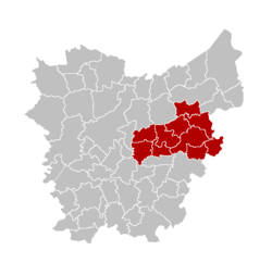 Location of the arrondissement in East Flanders
