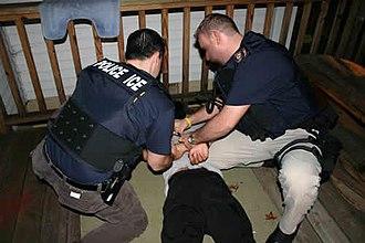Perp walk - Image: Arrest 2 lg