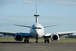 Arrival of RAAF 737-800 Wedgetail AWACS (Air Force Air Show 2012).jpg