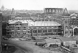 Arts and Industries Building - Construction of the Arts and Industries Building in 1879
