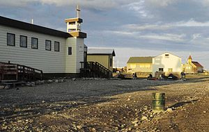 Arviat - Two of the churches in Arviat