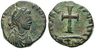 Galla Placidia - Galla Placidia on a coin ca. 430