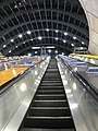 Ascending the escalator at Canary Wharf station - geograph.org.uk - 2318754.jpg