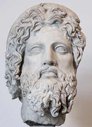 College of Aesculapius and Hygia - Head of Aesculapius from the Palatine Hill (latter 2nd century AD)