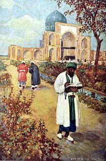 At the Tomb of Omar Khayyam - by Jay Hambidge.jpg