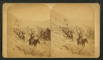 Pike's Peak Gold Rush - Image: At timber line, Pike's Peak trail. Colo, by Martin, Alexander, d. 1929