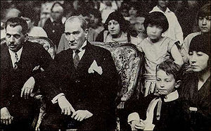 "National Sovereignty and Children's Day - Mustafa Kemal Atatürk (mid) in Ankara on the ""Day of National Sovereignty"", present-day the ""National Sovereignty and Children's Day"", on April 23, 1929."