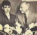 Audrey Hepburn and Cecil B. DeMille, 1953.jpg