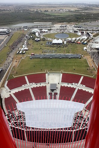 Del Valle, Texas - Image: Austin 360 amphitheater from tower 2013