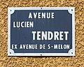 Avenue Lucien Tendret (Belley) - panneau de rue.jpg