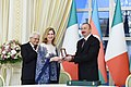 Award ceremony was held as part of Italian President's official visit to Azerbaijan 4.jpg