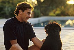 Ayrton Senna with a Dog