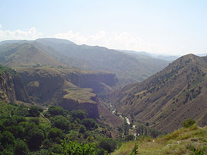 Azat River - Image: Azat at Garni