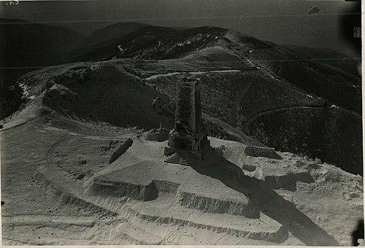 BASA-746K-1-84-14 Shipka Pass Liberty Monument aerial photo, Bulgaria 1930s