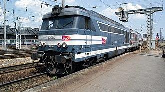 SNCF - SNCF diesel locomotive in Amiens