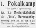 BK Velo Nørresundby v Aalborg BK cup match advertisement, Aalborg Amtstidende, 21 August 1926.png