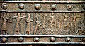 Balawat gate, detail of a bronze strip, 9th century BCE, British Museum.jpg
