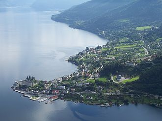 Balestrand (village) - View of the village (looking south)
