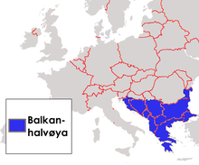 kart balkanhalvøya Balkan   Wikiwand kart balkanhalvøya