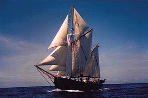 Lene Marie off the coast of Antigua, 1992