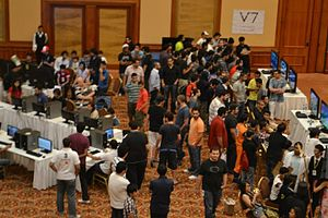 NINXA - Attendees and Gamers at the Gamers Realm of Banicon 2011