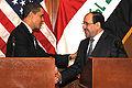 Barack Obama & Nouri al-Maliki in Baghdad 4-7-09 2.JPG