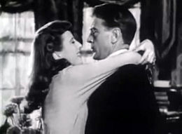 Screen capture of Barbara Stanwyck and Gary Cooper